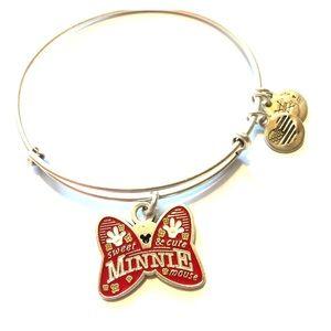Like new Minnie Mouse Bow Alex and Ani Bracelet!